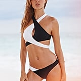 Victoria's Secret Surf Wrap Halter ($49) and Colorblock Cheeky ($28)