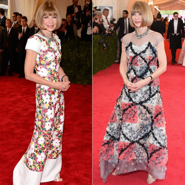 Anna Wintour at the 2013 and 2014 Met Galas