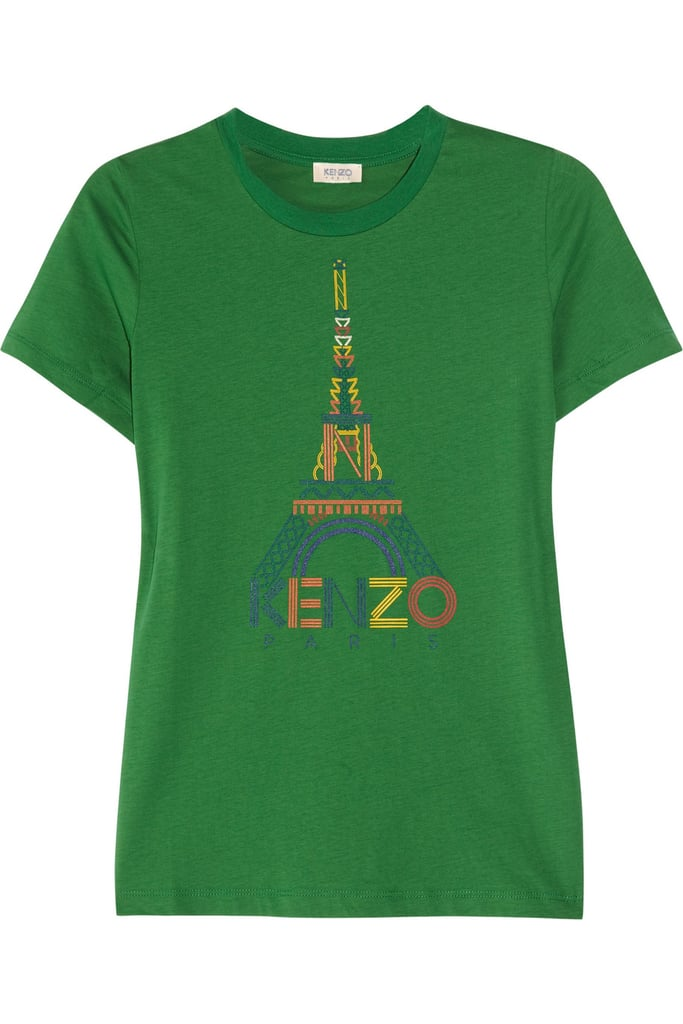 "The multicolored print paired with the iconic Eiffel Tower makes this supersoft tee feel more ""I got this on a trip to Paris when I was a kid"" than ""just picked it up yesterday."" Kenzo Printed Cotton T-Shirt ($105)"