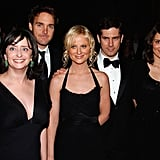 The pair joined SNL castmates Rachel Dratch, Will Forte, and Chris Parnell for a photo at a gala in November 2005.
