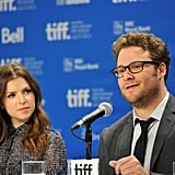 Anna Kendrick and Seth Rogen answered questions about 50/50 at the Toronto Film Festival.