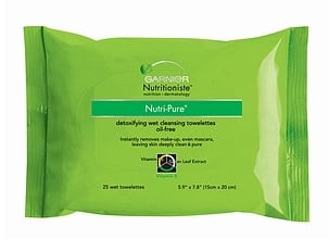 Review of Garnier Nutritioniste Detoxifying Wet Cleansing Towelettes — Oil Free
