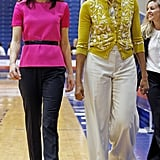 The first ladies are looking good in their brights.