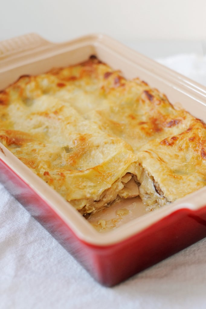 Vegetarian Mushroom-Leek Lasagna