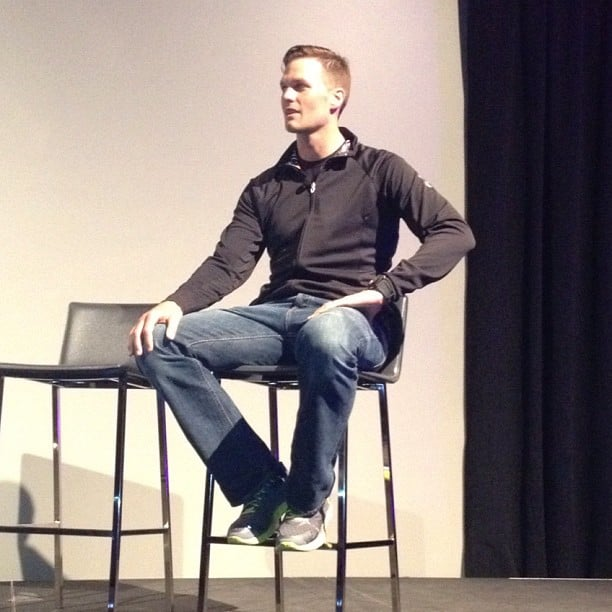 We snapped a photo of Tom Brady looking handsome during a promotional appearance in NYC.  Source: Instagram user popsugar