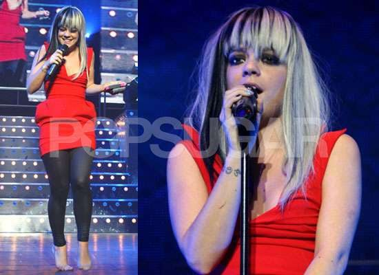 Photos of Lily Allen With New Hair at Manchester Gig