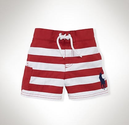For Baby Boys: Ralph Lauren Tulum Striped Swim Trunk