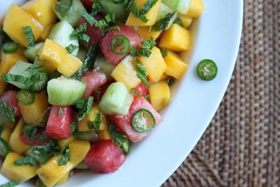Cucumber, Watermelon, and Mango Salad