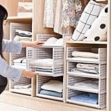 Yoillone White Wardrobe Closet Organiser