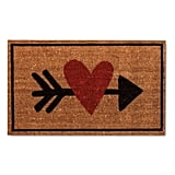 Heart With Arrow Door Mat