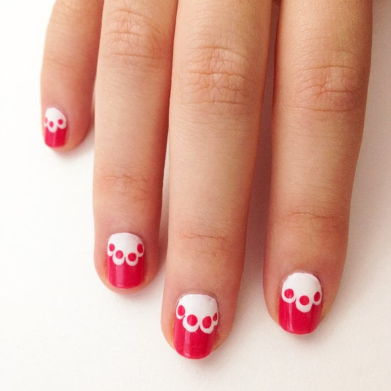Not into hearts? Try this dainty lace nail art DIY.