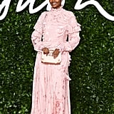 Halima Aden at the British Fashion Awards 2019 in London