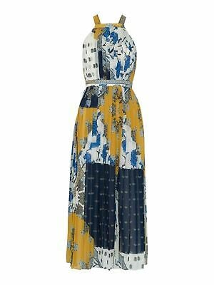 WHISTLES Patchwork Scarf Pleated Dress