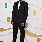 Micheal Ward at the 2020 BAFTAs in London