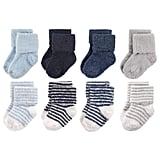 Roll Cuff Fuzzy Crew Socks