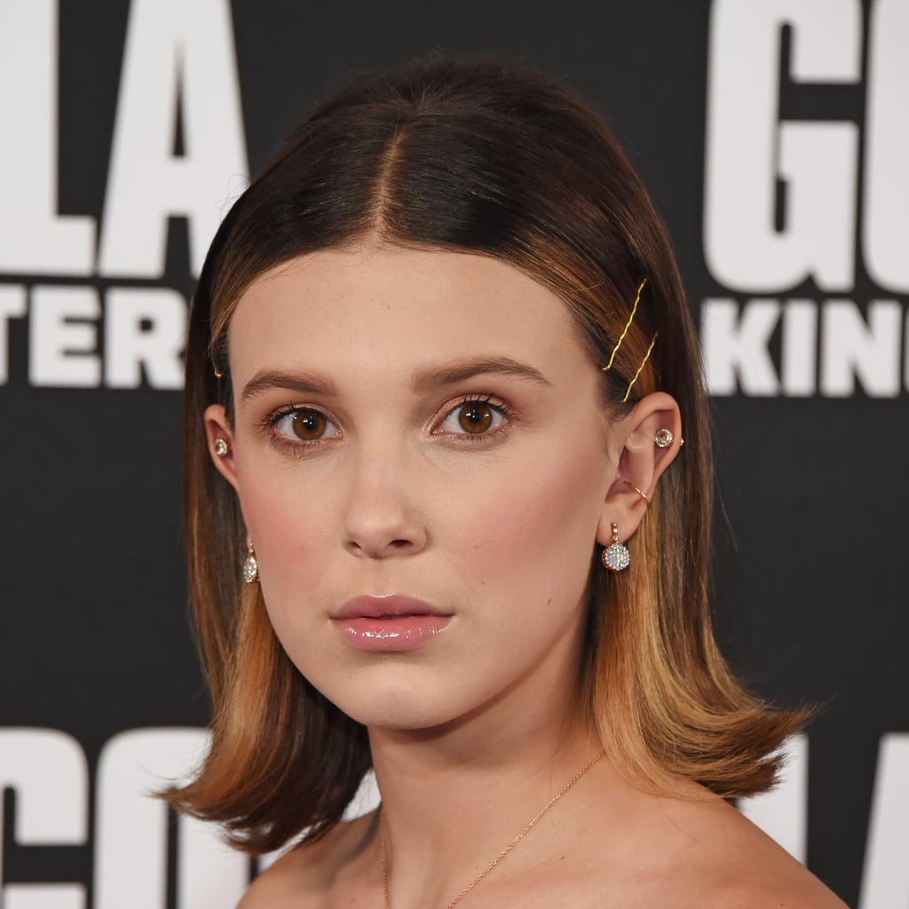 Millie Bobby Brown Tries the Hair Clip Trend