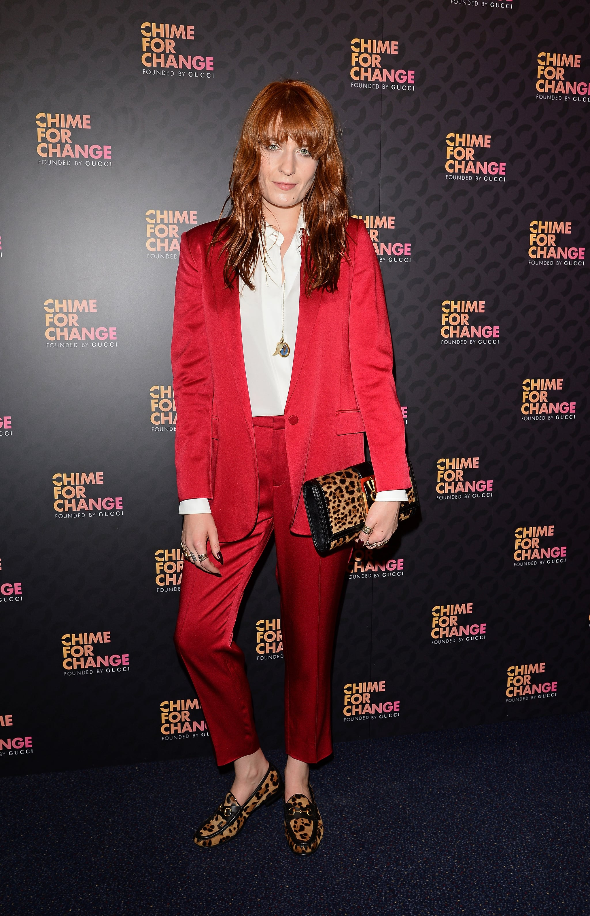 Florence Welch at the Chime For Change: The Sound of Change Live concert afterparty, presented by Gucci, in London.