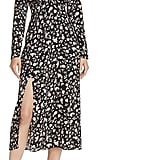 Bardot Slit Floral Print Dress