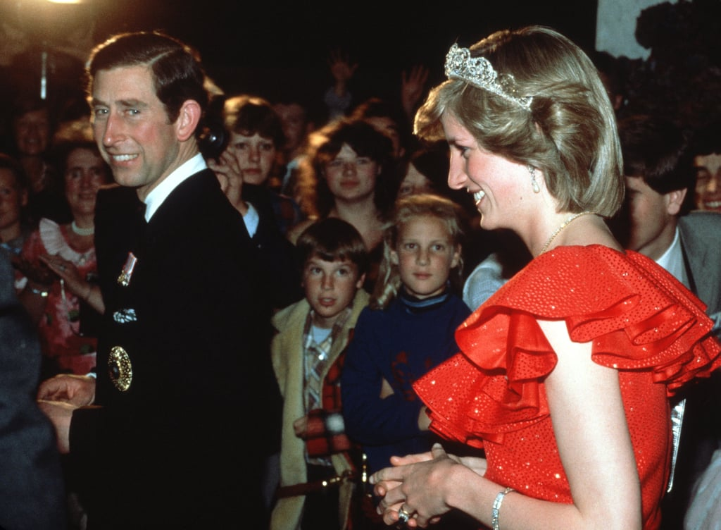 Princess Diana wore the Spencer Tiara alongside Prince Charles at a reception during their official tour of Australia in 1983.