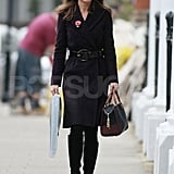 Pippa Middleton on her walk to work in London.
