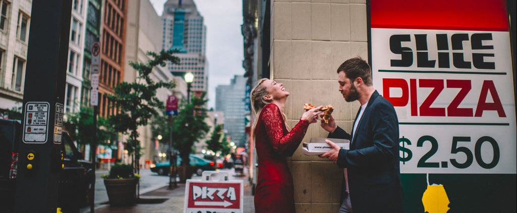 This Couple's Pizza Break Ended Up Being the Highlight of Their Engagement Shoot