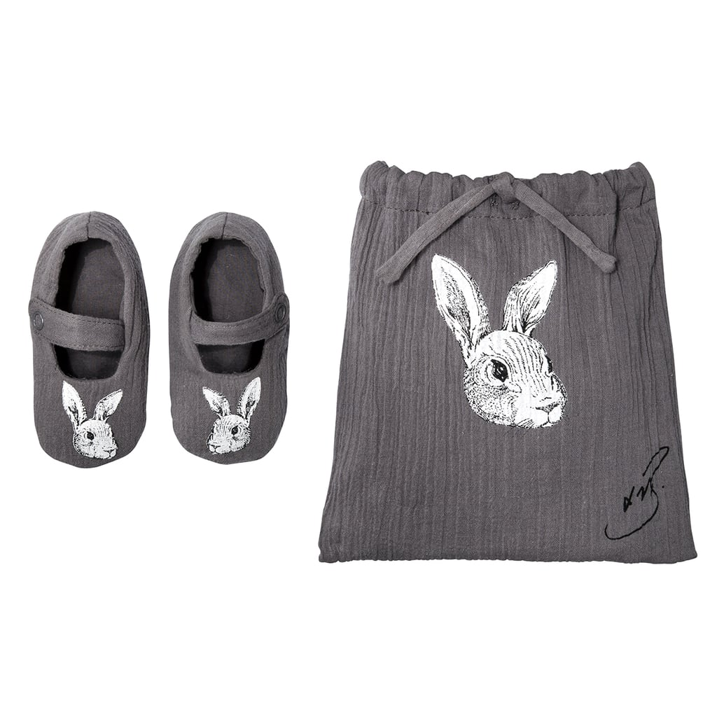 Baby Dark Grey Bunny Booties ($10)