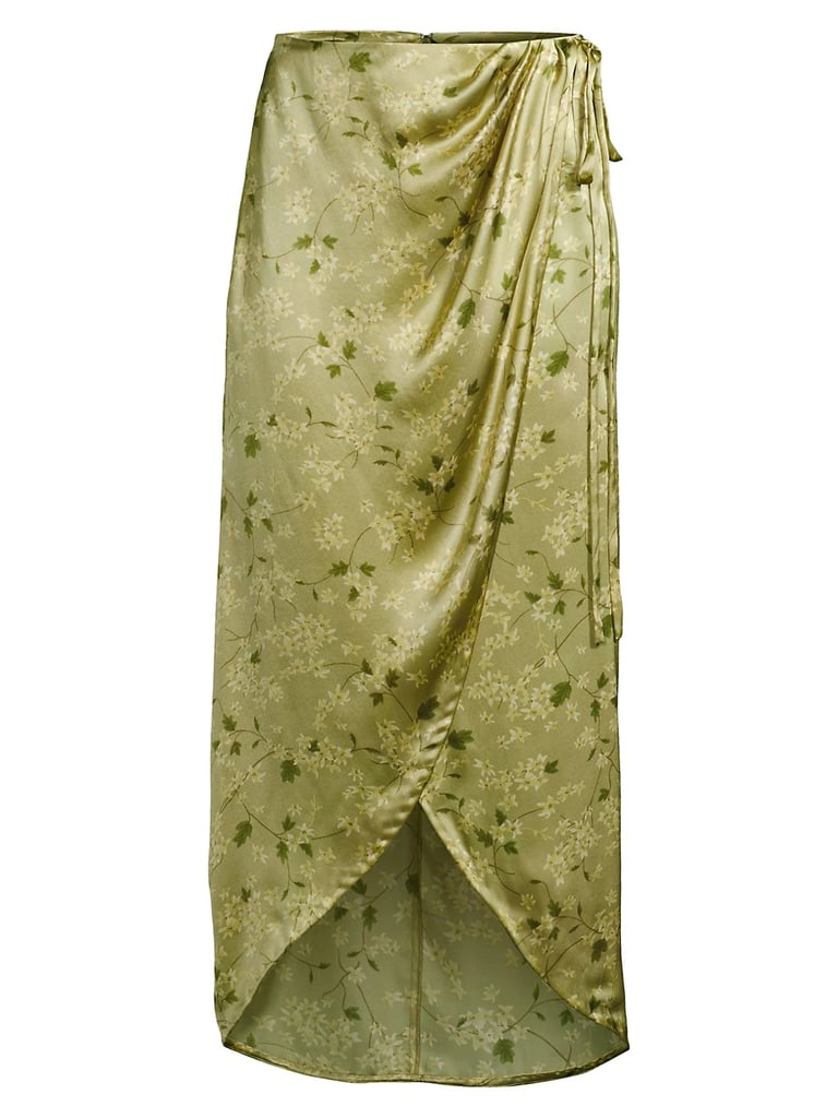 Rebecca Taylor Adela Fleur Silk Wrap Skirt