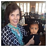 North posed with her great-grandma!