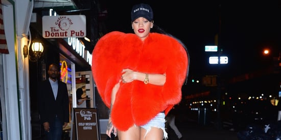 Rihanna Declares Her Love For New York With Giant Heart-Shaped Fur Coat