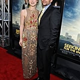 Keira Knightley and Steve Carell posed together at the LA premiere of Seeking a Friend For the End of the World.