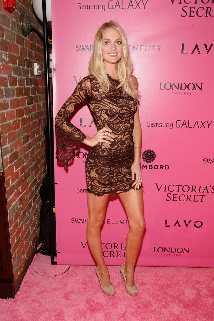 Lindsay Ellingson opted for a little lacy number.