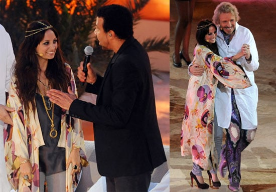Pictures of Nicole Richie and Lionel Richie on German TV Show Wetten Dass
