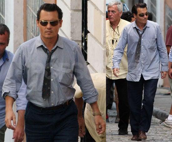 Johnny Depp on Set