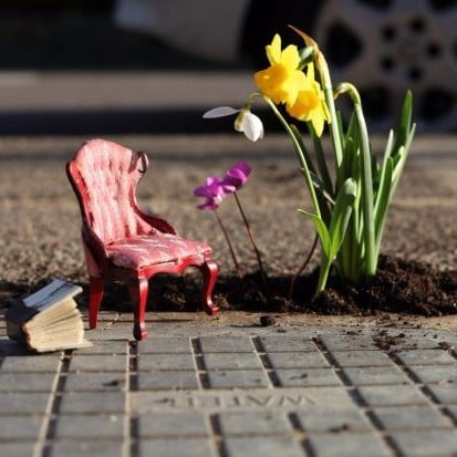 The Pothole Gardener Turns Potholes Into Mini Gardens