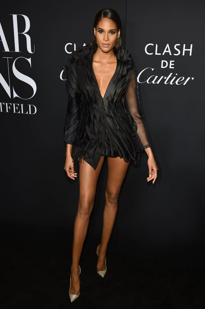 Cindy Bruna at the Harper's Bazaar ICONS Party During New York Fashion Week