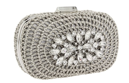 An accessible handheld size with an extra-special finish.  Franchi Handbags Dalia Clutch ($285)