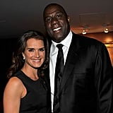 Brooke Shields and Magic Johnson
