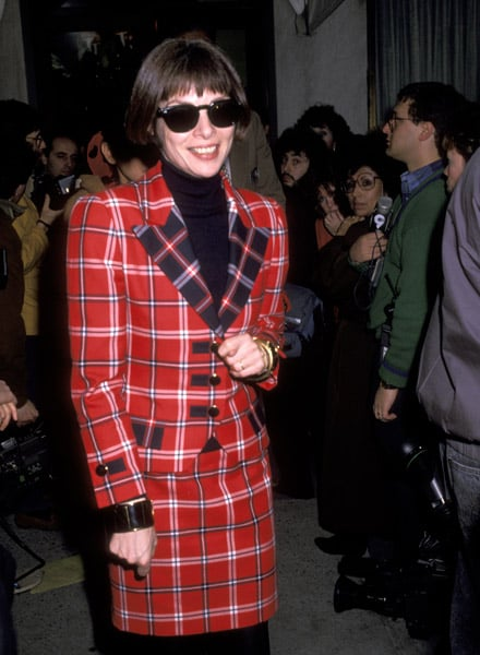 Feb.1990: They might not be the Chanel sunnies she wears today, but 18 years ago, the trademark sunglasses were already in
