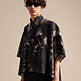 Fenty Oversized Cropped Printed Shirt — Stormy Tie-Dye