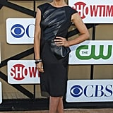 Sarah Michelle Gellar worked a peplum and leather-trimmed Izmaylova LBD, then complemented the look with studded pumps.