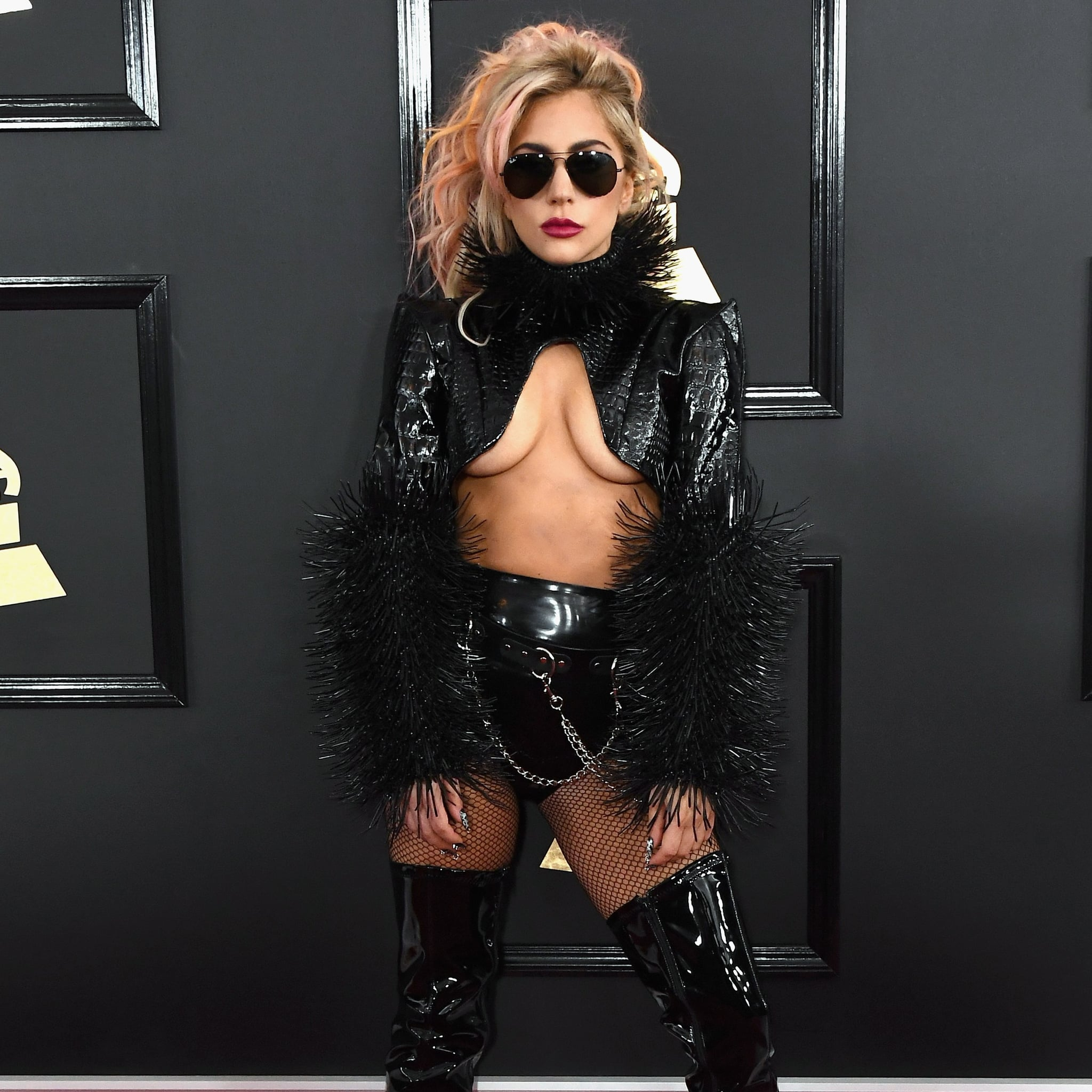 ad0a42fd4828 Lady Gaga s Outfit at the 2017 Grammys