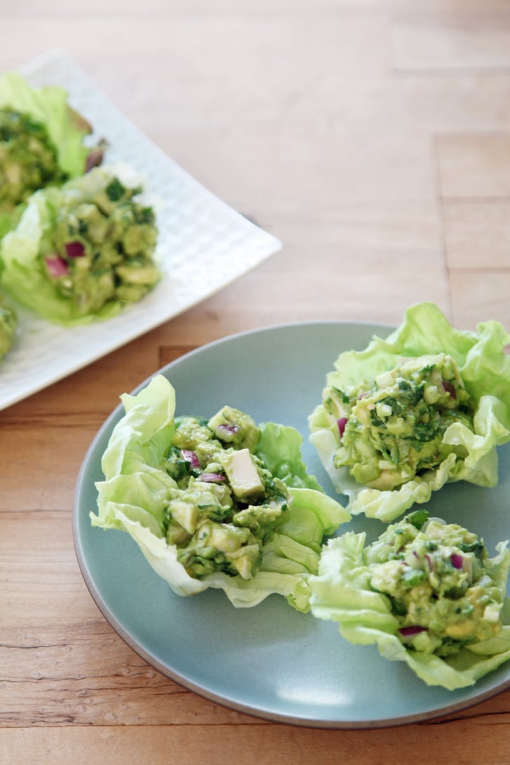 Guacamole Chicken Salad Lettuce Wraps Lettuce Wrap Recipes Popsugar Food Photo 3