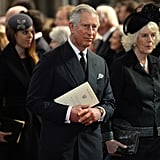 Prince Charles attended the memorial with Camilla, Duchess of Cornwall.