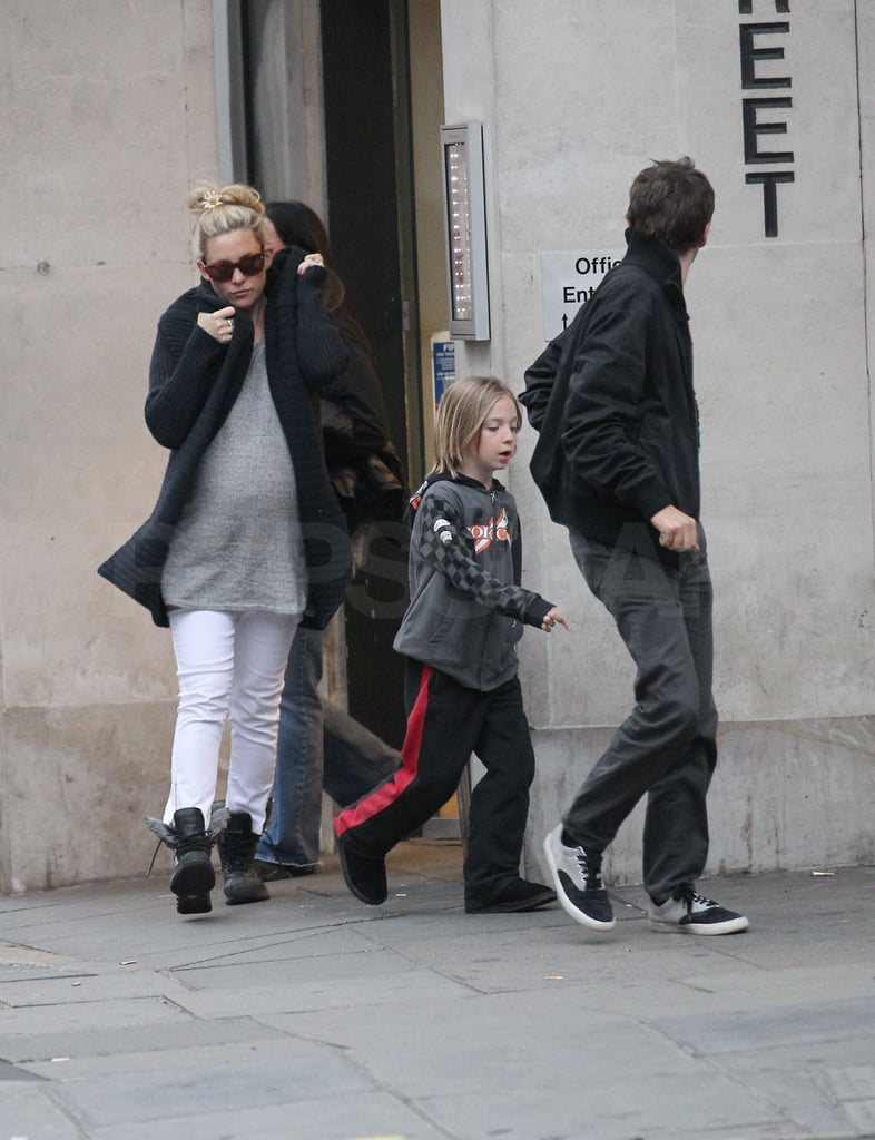Kate Hudson and her fiancé, Matthew Bellamy, grabbed lunch at a London Wagamama yesterday with her son Ryder. The gang headed to Matt's UK homeland once Kate wrapped up promotion for her movie, Something Borrowed, two weeks ago. Kate and Matt have yet to reveal whether they'll marry in England or back in LA, where she lives — but see if you can tell Kate's new bling apart from that of other stars in our new guess the celebrity engagement ring quiz! Kate recently spoke to Jimmy Kimmel about being ready to have her second child right now, but it seems she and Matthew still have some time to go before their bundle of joy arrives. Her family back in California is excited for the new addition, and it seems Kate's stepdad has lots of love to go around. Kurt Russell recently said he loves all of Kate's exes, which included her former husband, Chris Robinson, and old boyfriends like Owen Wilson, Alex Rodriguez, and more.