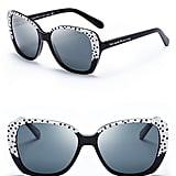 Kate Spade New York Brenna Black and White Polka Dot Sunglasses ($158)