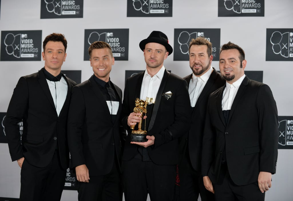 Justin Timberlake was joined by his former *NSYNC bandmates at the VMAs.