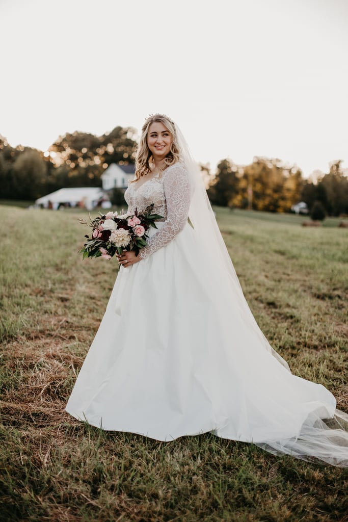 With A Floral Bodice And A Full Skirt Best Wedding Dresses From