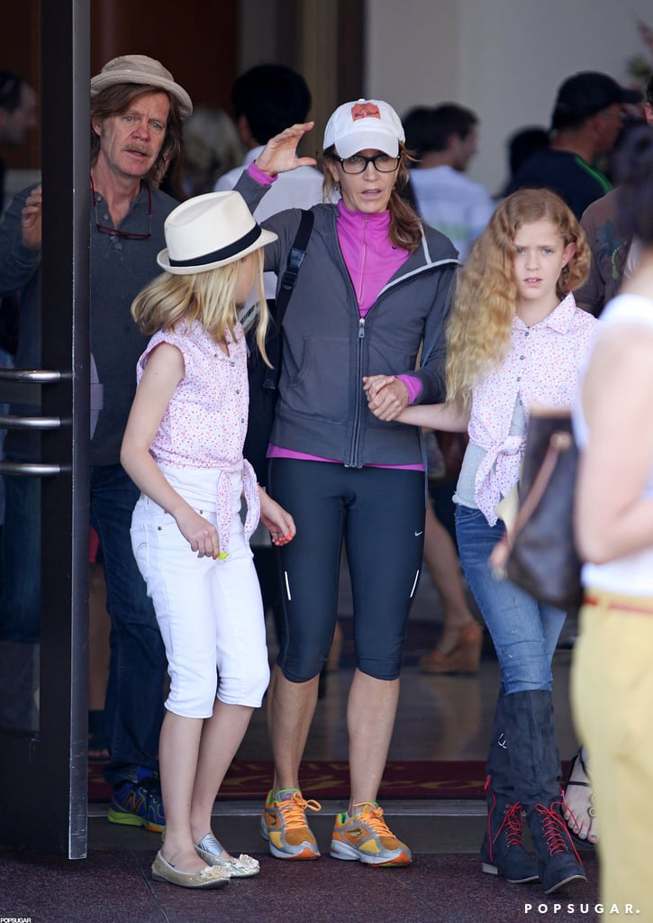 Felicity Huffman caught a movie in LA with husband William ...
