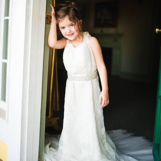 Toddler Wears Late Mom's Wedding Dress