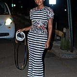 Janelle Monáe Looked Very French in Her Striped Outfit